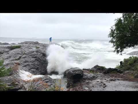 Jerryism #51 - 10.24.17 Lake Superior Storm at Presque Isle Blackrocks