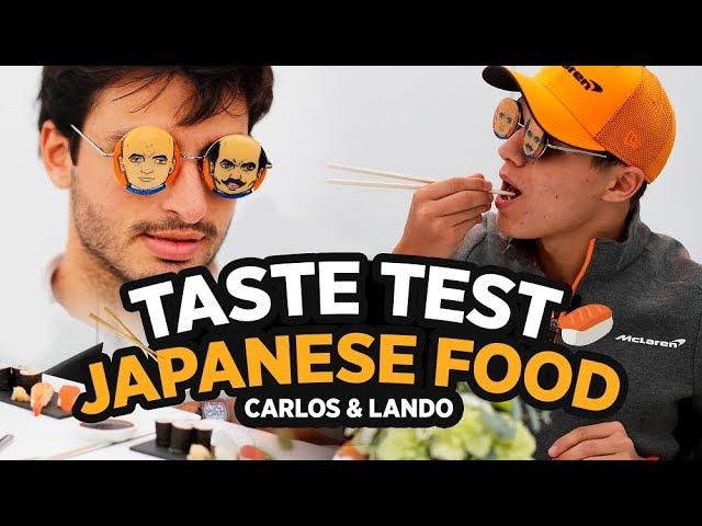 Carlos Sainz and Lando Norris Try Japanese Food - Motor Informed