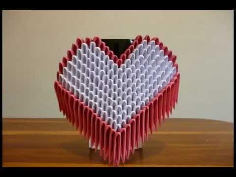 Corazon Origami 3D - YouTube