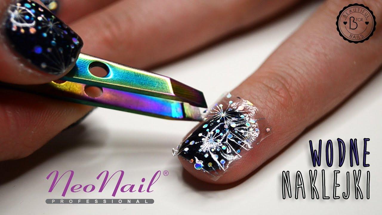 Nail Tutorial Naklejki Wodne Neonail I Hybryda Andromeda