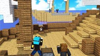 YouTuber Blocks in Minecraft PIRATE BATTLE - Minecrafter Mod (PopularMMOS, DanTDM, StampyLongHead)
