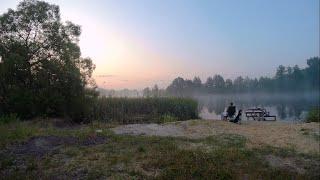 На рыбалке с женой.  Семейный отдых с ночевкой на реке Цна.