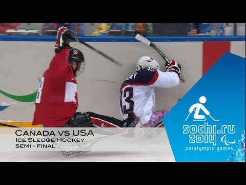 Canada Vs USA | Semi-final Ice Sledge Hockey |  Sochi 2014 Winter Paralympic Games