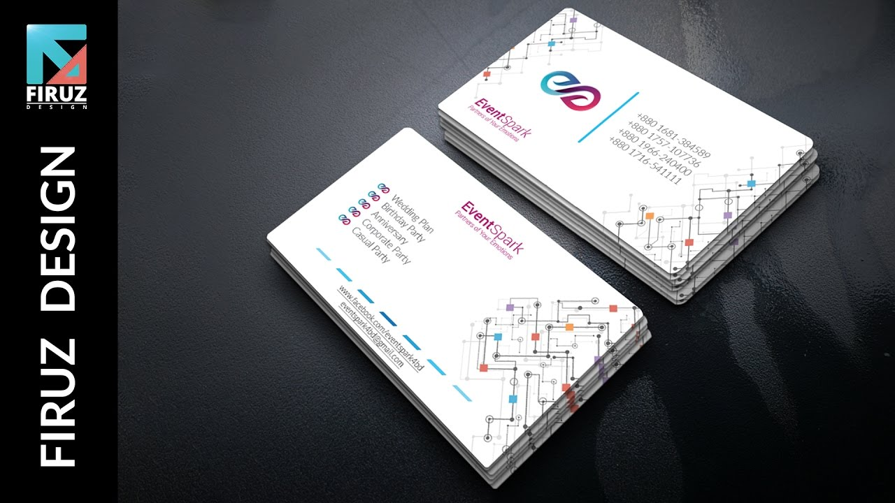 Business Card Design For A Event Management Company - Illustrator ...