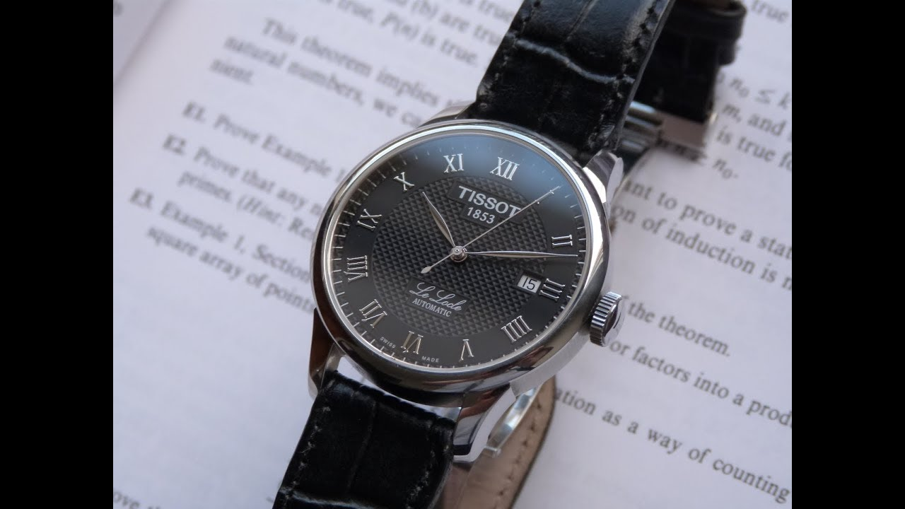 15ee5a1efe6 Relógio Usado Tissot Le Locle T41142353 Suíço Automático Social Couro +  Safira. Thauro Relógios