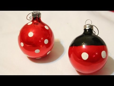 diy mickey and minnie ornaments easy whitney crafts - Homemade Mickey Mouse Christmas Decorations