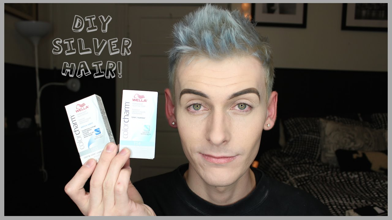 How To Dye Your Hair Silver With Toner Diy Youtube