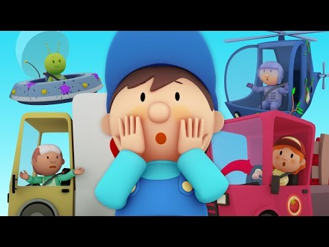 CAR WASH CARTOONS ★ Garbage Truck, Fire Truck, Helicopter & More!