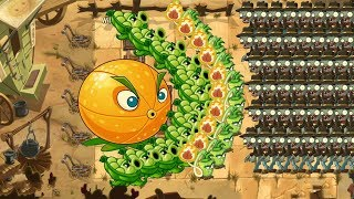 Sling Pea, Citron, Wasabi Whip vs all zombies - Pvz 2