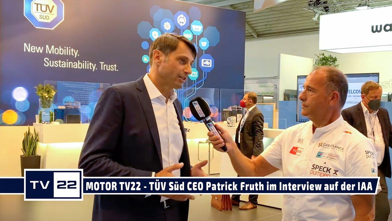 MOTOR TV22: TÜV Süd CEO Patrick Fruth im Interview nach der Pressekonferenz auf der IAA Mobility
