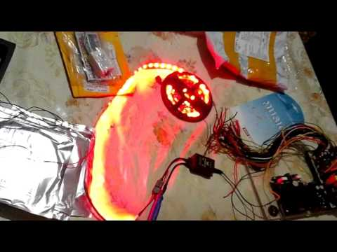 Видео Светодиодные ленты и музыкальный//RGB контроллер//светомузыка своими руками//тюнинг автомобиля