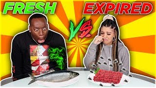 FRESH VS EXPIRED FOOD CHALLENGE 🤢