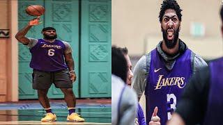 LeBron James & Anthony Davis Workout At Orlando Bubble Lakers Practice. HoopJab NBA