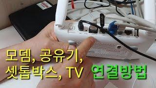 모뎀, 공유기, 셋톱박스, 인공지능 스피커, TV 연결…