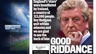 Angleterre 1-2 Islande : la presse anglaise massacre son équipe !