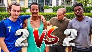 2 VS 2 BEACHVOLLEY FUßBALL CHALLENGE + BESTRAFUNG !