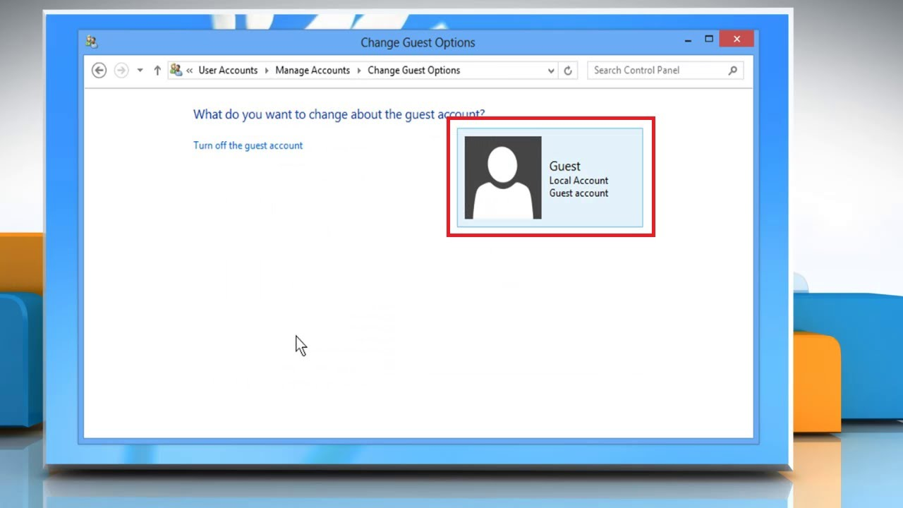 how to create a guest account on windows 8