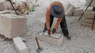 Tallado de una Piedra de Sillar en Culebrillas, Arequipa