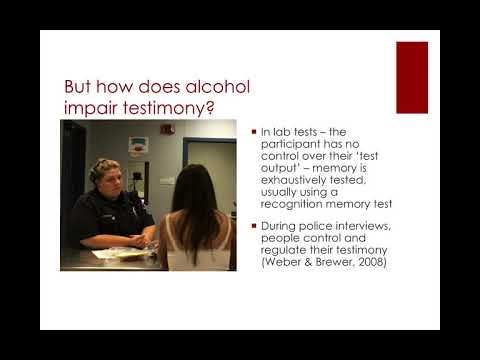 Alcohol and remembering sexual assault
