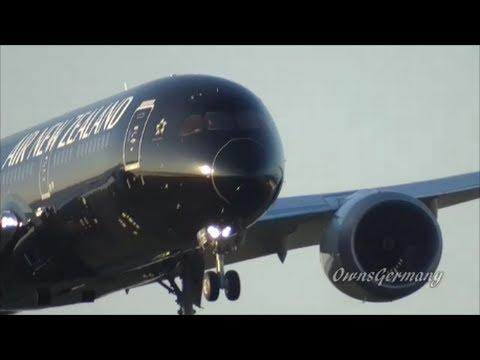 1st Air New Zealand 787-9 All Blacks Scheme Test Flight Landing @ KPAE
