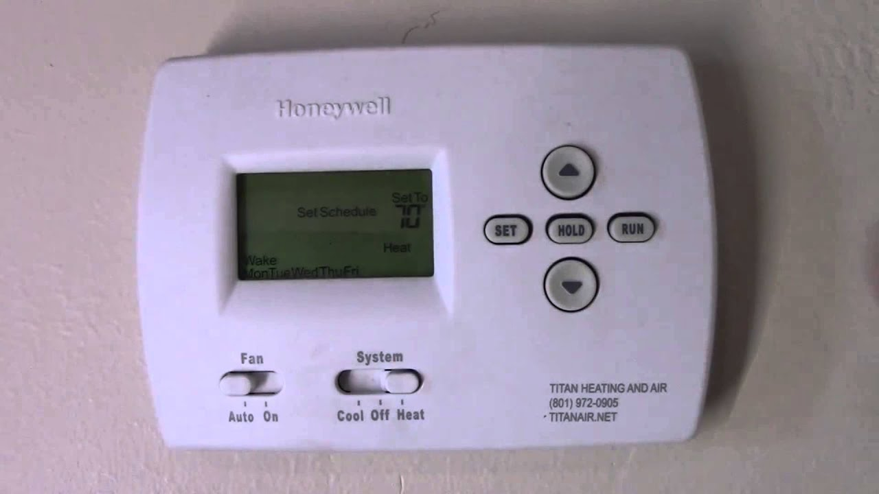 Programar Termostato Honeywell