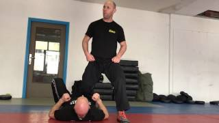 Release from Ground Choke from the Side, with Amnon Darsa at Institute Krav Maga Netherlands.