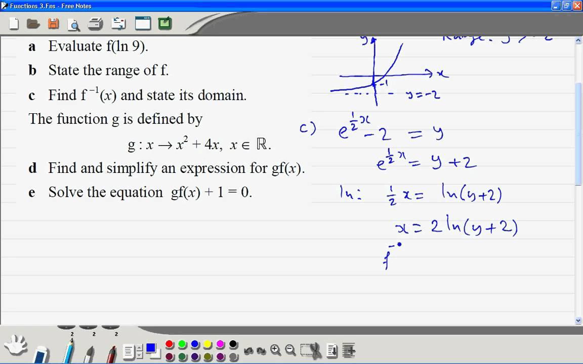 A Level Maths C3 Functions 4wmv