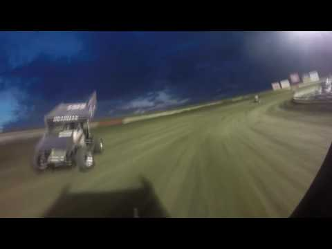 Justin Henderson I-80 Speedway Heat Race Action from 7/21/16