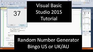 Visual Basic Random Number Generator Bingo Source Code .NET