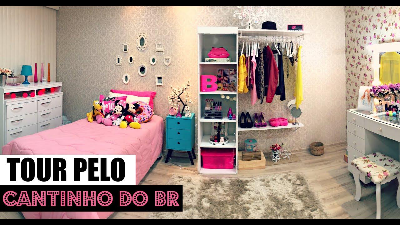 Tour Pelo O Meu Quarto Cor De Rosa ~ TOUR PELO CANTINHO DO BR ?  #VEDA2  YouTube