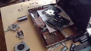 Разбор и чистка ноутбука Asus K95V