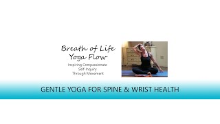 Gentle Yoga for Spine, Legs, Hips, and Wrist Health | 39 Minutes | Breath of Life Yoga Flow