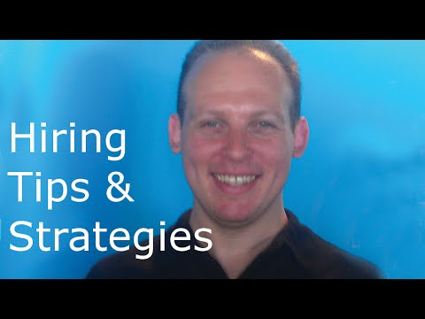 Hiring tips and strategies. How to hire staff for events or a local small business