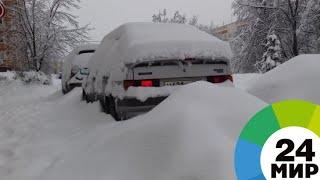 Москвичей предупредили о сложной ситуации на дорогах из-за снега - МИР 24