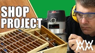 Router bit storage box. Get organized by making this handy shop project. Thumbnail