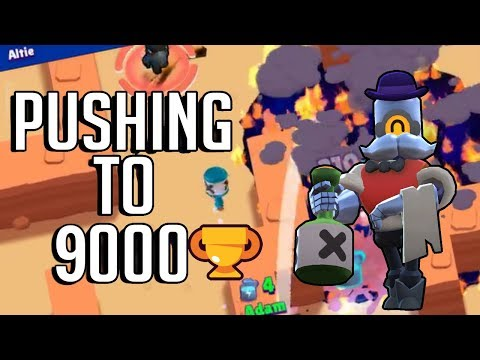 Pushing to 9,000 Trophies with Barley in Showdown! Brawl Stars