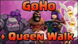 Clash of Clans - Live GoHo + Archer Queen Walk TH9 War Attack Strategy