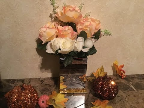 DollarTree DIY l Sequins Glam Vase l Fall l Mirror  l Crafts