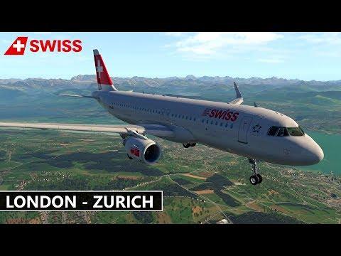 ✈️ X-Plane 11 | Swiss | LONDON (EGLL) to ZURICH (LSZH) FULL FLIGHT HD
