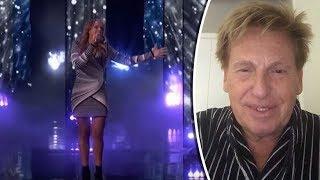 Henny Huisman wenst Glennis Grace succes bij de finale van America's Got Talent