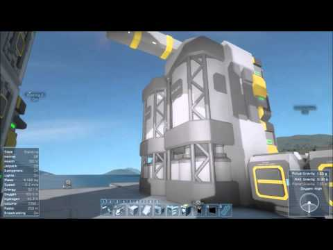 Space engineers Survival Planet  E6 -TIM Refinery / Inventory management and LCDs