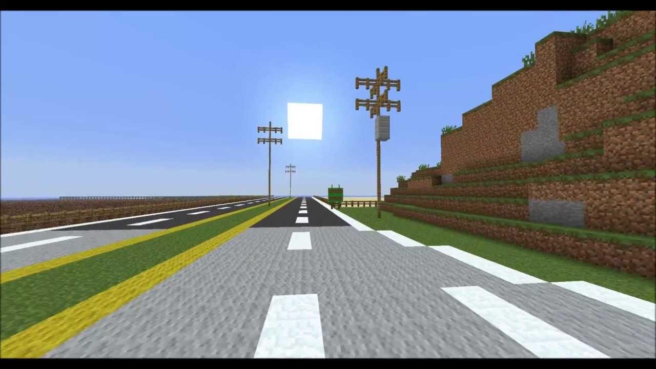 Minecraft - Realistic American Highway v3.0 Ultra HD - YouTube