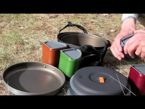 GSI Pinnacle Camper, Backpacker and Dualist Integrated Cooking and Eating Solution
