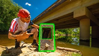 Magnet Fishing Under An OLD Bridge (GIANT SAFE FOUND)
