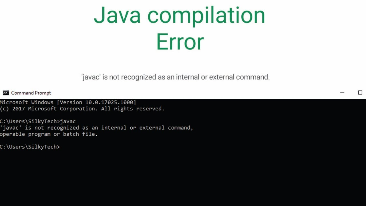 javac\u0027 is not recognized in window 10 - YouTube