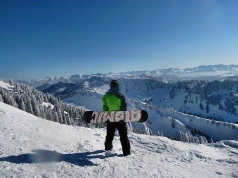 Snowboard deep snow freeride - Tiefschnee boarden GoPro Hero 2 HD 720p