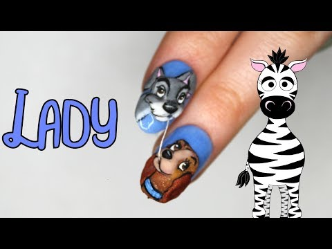 4D Lady Acrylic Nail Art Tutorial | Lady and the Tramp thumbnail
