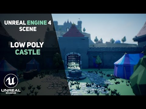 A scene that I did a long time ago - low poly castle