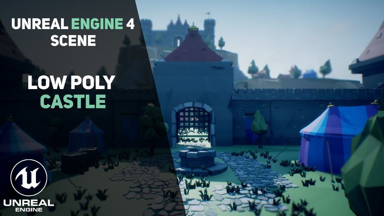 Low Poly Castle Scene – Your Guide to Free High Quality Tutorials