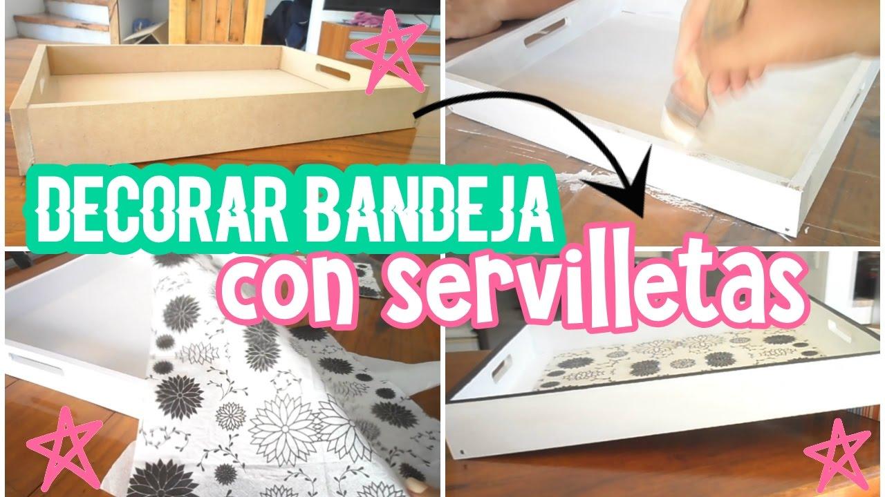 C mo decorar una bandeja con decoupage youtube for Bandejas de navidad